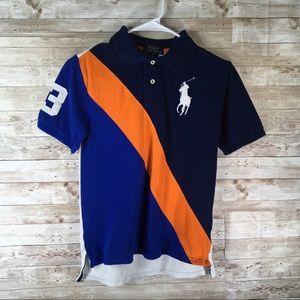 Ralph Lauren Polo Shirt Large Pony Diagonal Stripe